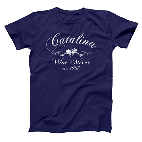 Catalina Wine Mixer Funny Movie Wino Lover Step Brothers Hilarious California Humor Mens Shirt Small Navy