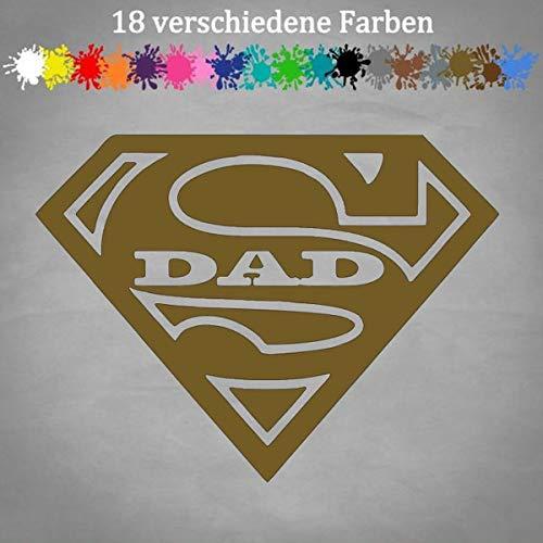 Pegatinas de Super Dad 16 x 12 cm Hero Mi Padre es el mejor estilo JDM Spiderman en 18 colores