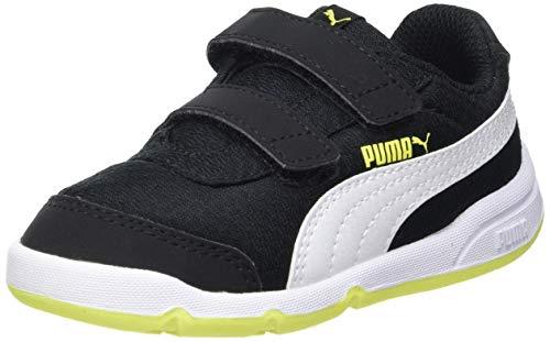 Puma Unisex Baby STEPFLEEX 2 MESH VE V INF Sneaker, Black White-NRGY Yellow, 25 EU