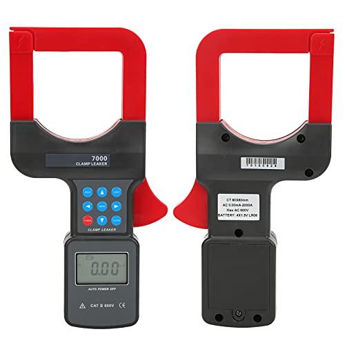 Pinza amperimétrica digital, pinza amperimétrica de corriente fácil de operar para prueba de corriente para medir la corriente de fuga de CA
