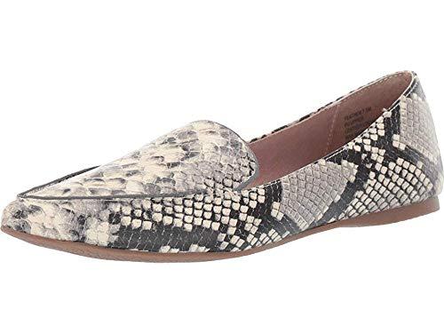 Steve Madden Feather Loafer Flat Snake 5.5