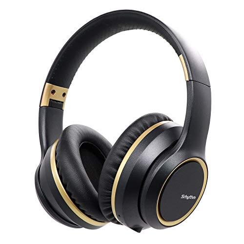 Cuffie Cancellazione del Rumore Wireless Bluetooth 5.0, Srhythm NC15 2020 Version Auricolare Pieghevole Over-ear con Microfono per classe online/Home Office/TV/PC/Cellulare
