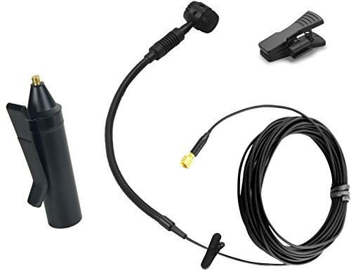 Gbbpro Micrófono de instrumento con soporte/soporte/clip/adaptador (para saxofón)