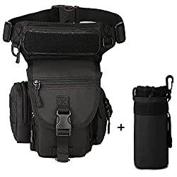 Freedom-vp Dammen Mens Military Tactical Waist Pack Leg Bag for Traveling Cycling Mountaineering Sports Outdoor Bag (Black)