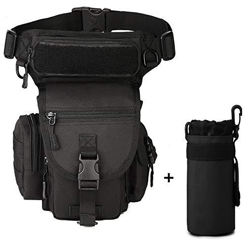 Freedom-vp Dammen Herren Military Tactical Hüfttasche Beintasche für Reisen Radfahren Bergsteigen Sports Outdoor Tasche (Schwarz)