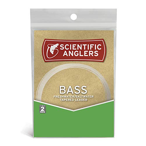 Scientific Anglers Premium Freshwater Bass Leaders (2 Pack), Clear, 9' - 10#