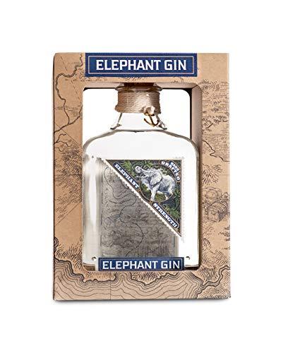 Elephant Gin Strength in Geschenkpackung, elefantenstarker Dry Gin (57% Vol) mit intensivem Aroma und weichem Charakter (1x 0,5 L)