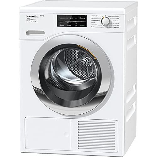 Secadora modelo TCJ680 WP Eco&Steam Chrome Edition XL, bomba de calor T1 con SteamFinish, 9 Kg y WifiConnect, A+++, color blanco, 63,6 x 59,6 x 85 centímetros (referencia: Miele 12CJ6802E)