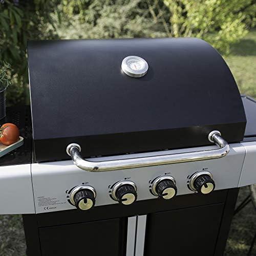 LIVOO Barbecue gaz 4 brûleurs avec une zone de cuisson latérale DOC247