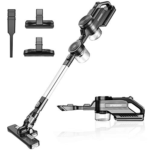 oneday Cordless Vacuum Cleaner, Double Cyclonic Suction Lightweight Rechargeable Stick Handheld Vacuum