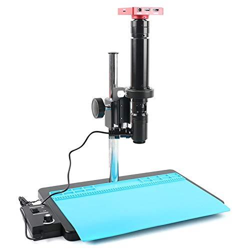 RONGW JKUNYU - Microscopio digital HDMI de 37 MP HD 400X 800X1400X 2000X Monocular lente de zoom para sistema de visión (aumento: 2000X)