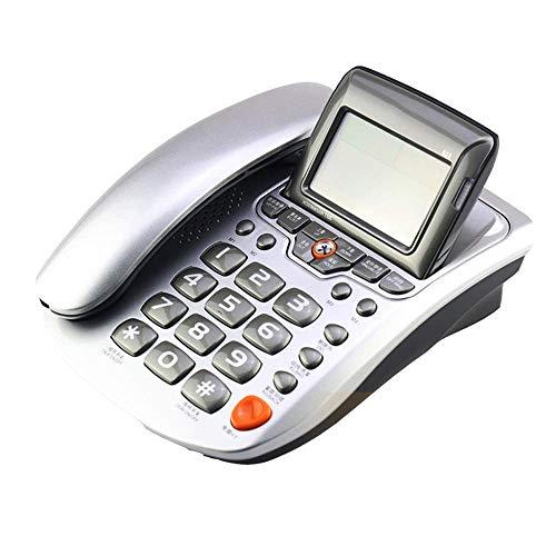 Festes Telefon Home Festnetz, der Winkel des Bildschirms einstellbar, Blacklist-Funktion, DND Modus, Freisprechfunktion, Dunkelrot, Weiß, Rot, weiß