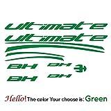 BYTT Recién llegados BH KIT 13 Pegatinas Cineli Calcomanías para Bicicleta de montaña Ciclismo Pegatina Pegatina Cañón Bicicleta Ruedas Calcomanías Protector Pieza (Color Name : Green)