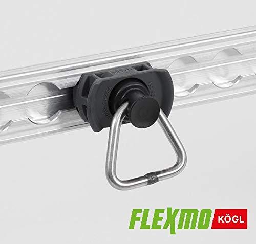 FLEXMO   10 Stück Endfitting für Airlineschienen   Single Endbeschlag   Fitting Automitive  1000 daN   grau
