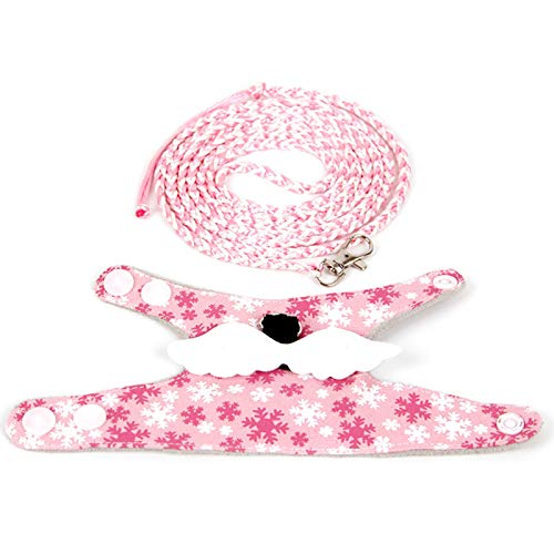 Arnés para mascotas + chaleco, accesorio para mascotas pequeñas, Chinchilla hámster, arnés de ardilla, chaleco ropa, cuerda de accesorios pequeños para mascotas – Rosa