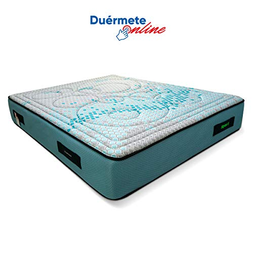 Duérmete Online Colchón Energy Sport | 8cm de Viscoelástica | 27cm Altura | Tejido Biocerámico, 160 X 200