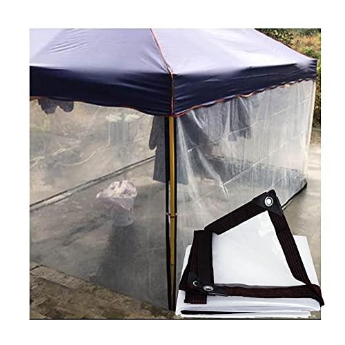 LJIANW lonas impermeables exterior, Transparente Impermeable Cubierta De Lona Tarea Pesada A Prueba De Polvo Impermeable Anti-envejecimiento Aislamiento PE Para Acampar Pescar Jardinería, Tamaño Perso