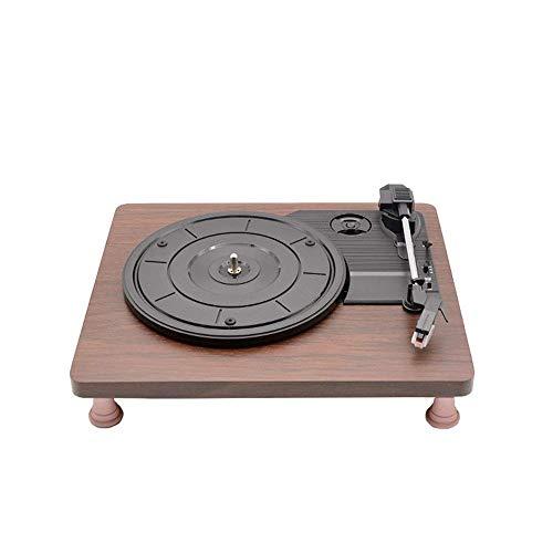 Living Equipment Altavoz bluetooth retro Tocadiscos portátil Caja de madera plana Máquina de grabación Vinilo vintage Reproductor de discos multifuncional de fonógrafo Altavoces Bluetooth Maleta To