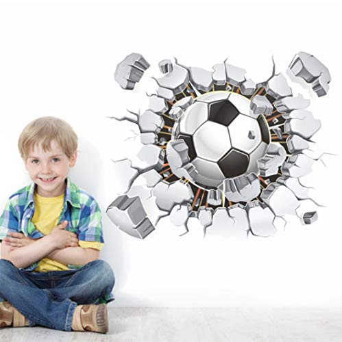 Balón De Fútbol Pegatinas De Pared Fondo De Tv Sala De Estar Dormitorio Tatuajes De Pared Decoración De La Habitación De Los Niños