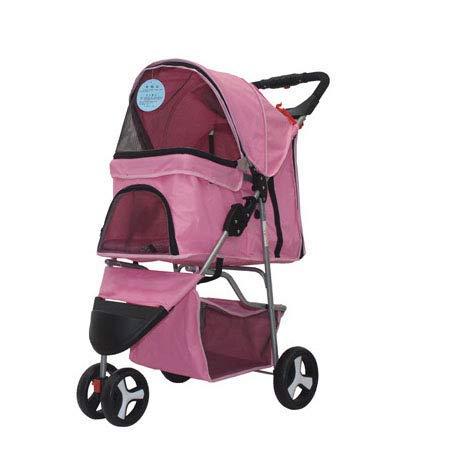 Huisdier kinderwagen voor katten/honden drie wiel karren schokbestendig duurzaam verstelbare richting snelle installatie voor reizen lichtgewicht vouwen