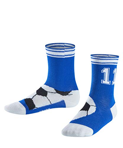 FALKE Kinder Socken Soccer, Baumwollmischung, 1 Paar, Blau (Cobalt Blue 6054), Größe: 31-34