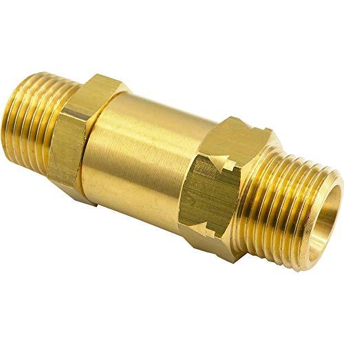 Válvula antirretorno con rosca interior, rosca exterior de latón para aire comprimido, agua, aceites minerales