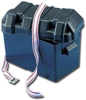 Caja para batería con tapa y correa de sujeción