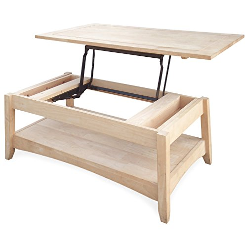 24 in.Bombay Solid Wood Lift Top Coffee Table