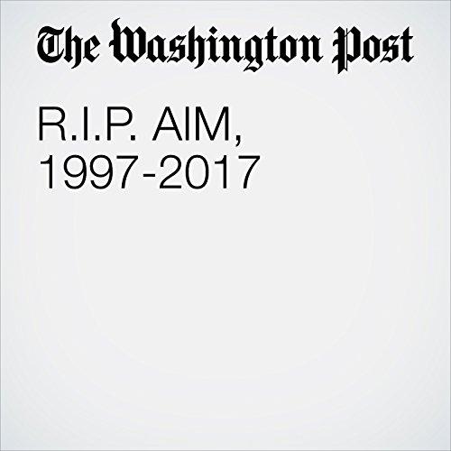 R.I.P. AIM, 1997-2017 copertina