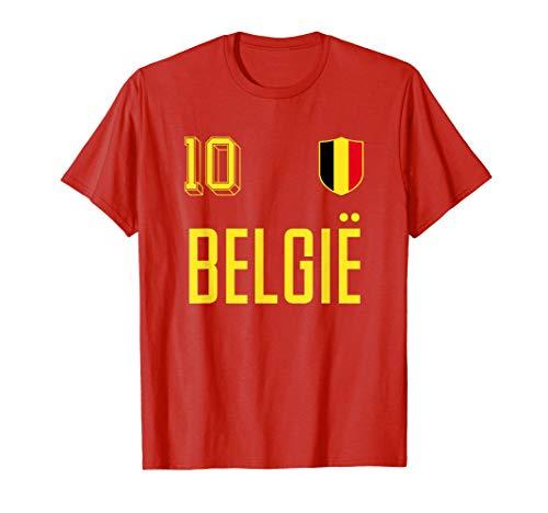 Retro Belgien Fußball Trikot Wappen Belgier Belgique Belgie T-Shirt