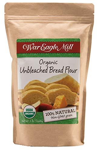 War Eagle Mill Bread Flour, Unbleached, High-protein, Organic and non-GMO - 5 lb. bag
