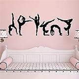 AGjDF Modische Ballerina-Aufkleber für Mädchen, Hauptwanddekoration, Mädchenaufkleber,...