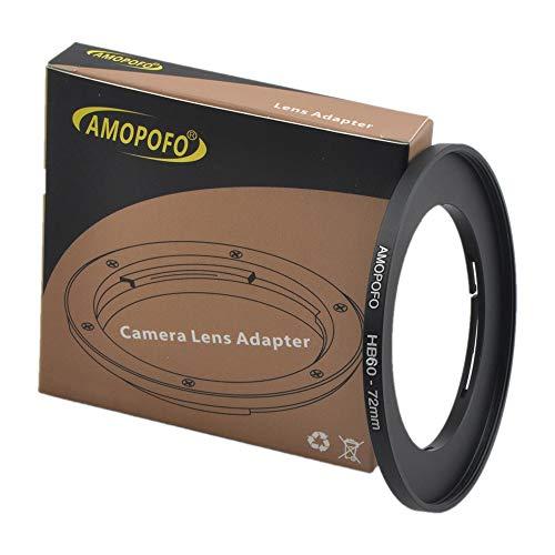 Anillo adaptador de filtro Hasselblad de 60 mm a 72 mm, anillo adaptador de filtro de metal para objetivo de cámara con rosca de 60 mm a anillo de filtro de 72 mm