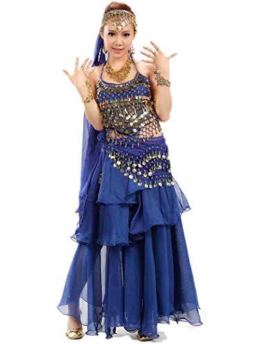 Bollywood Indian Woman's bharatanatyam Stijl Buik Dans Dames Fancy Jurk Outfit Kostuum Dans slijtage