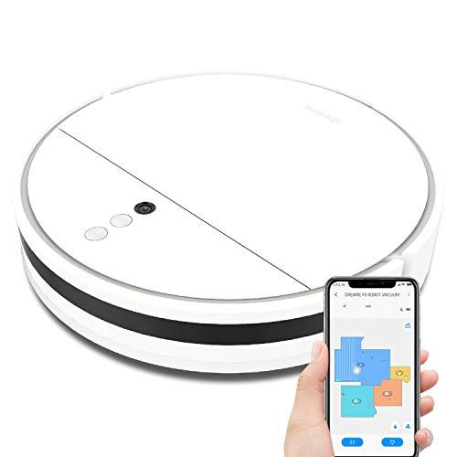 Dreame F9 Robot Aspirador, 2500PA Aspirador y Fregasuelos, Batería de 150 Minutos y Control de App para Suelos Duros, Alfombras y Pelo de Mascotas (Blanco)