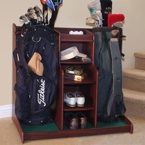 Gift Ideas for Your Snowbird Grandparents include this fun golf rack.