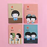 Notizbuch Leeres Notizbuch Briefpapier Cartoon Notizblock Kleines Geschenk Werbegeschenk-8,5X12Cm_ Verblassen Zeitreihen3263