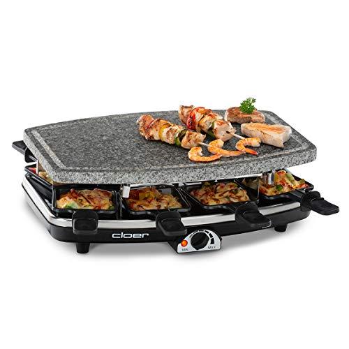 Cloer 6430 8persona(e) 1100W Nero, Grigio griglia per raclette
