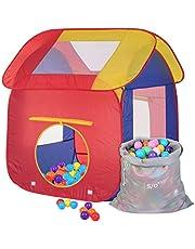 Schramm® Carpa de Juego para niños Piscina de Bolas Pop Up con 200 Bolas y Bolsa de Transporte Carpa de Bolas para niños Carpa de Juego para Bolas