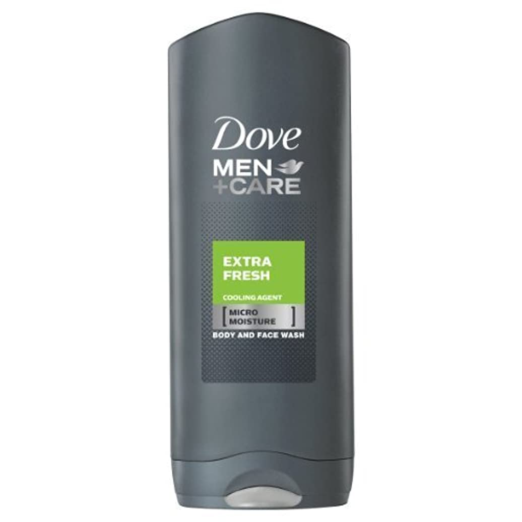 交渉する牧草地欠陥Dove for Men Extra Fresh Body and Face Wash 250 ml by Dove [並行輸入品]