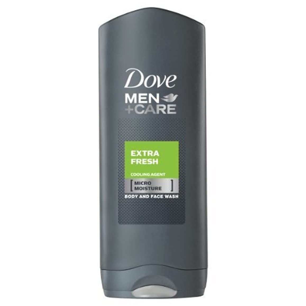 シャツ分数生産的Dove for Men Extra Fresh Body and Face Wash 250 ml by Dove [並行輸入品]