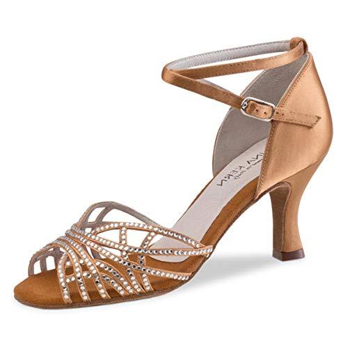 Anna Kern Damen Tanzschuhe 700-60 - Farbe: Bronze - Größe: UK 6