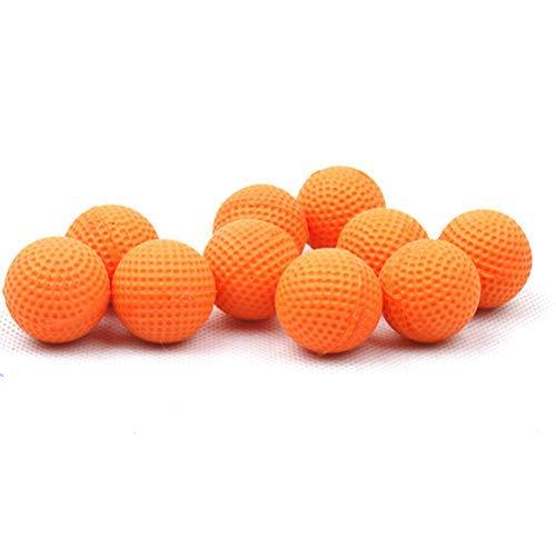 RUSTOO Recambio de Bala de munición Redonda, 100 Piezas de Recambio de munición de Espuma Redondas para reemplazar el Paquete de Bolas de Bala para niños, Juguete para niños (Naranja)