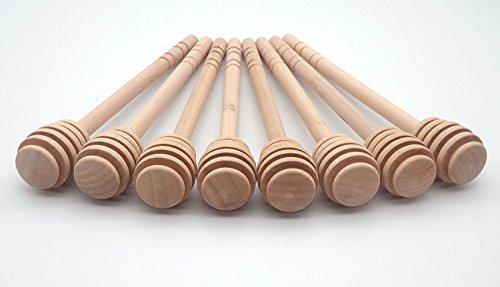 Honig Sticks 5,7 Zoll Holzschläger für Honig-Glas-Topf Dispense Drizzle Honig,Set von 8