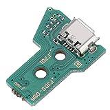 Consola de Juegos Piezas de Repuesto de la Placa de Carga de 12 Pines, Cargador de Enchufe de Puerto de Placa de Carga USB JDS-050 para Mando de Juego PS4