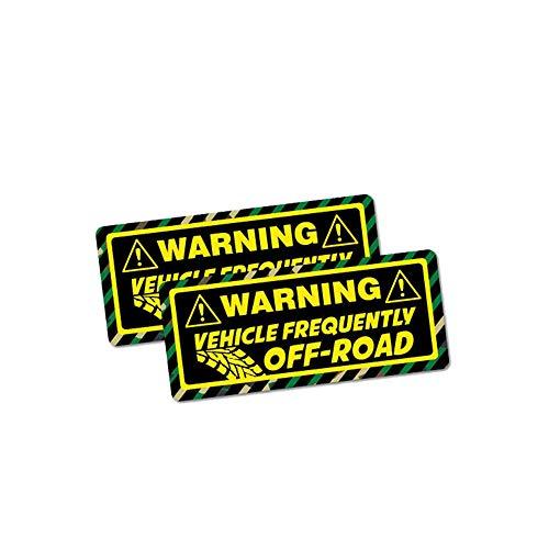Kreative Autoaufkleber Warnung Fahrzeug häufig Offroad-Zubehör Reflektierender Aufkleber, 3 cm * 9 cm