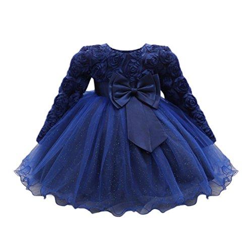 Btruely Mädchen Prinzessin Kleid Hochzeit Baby Brautjungfern Kleid Bowknot Abendkleid Blumen...