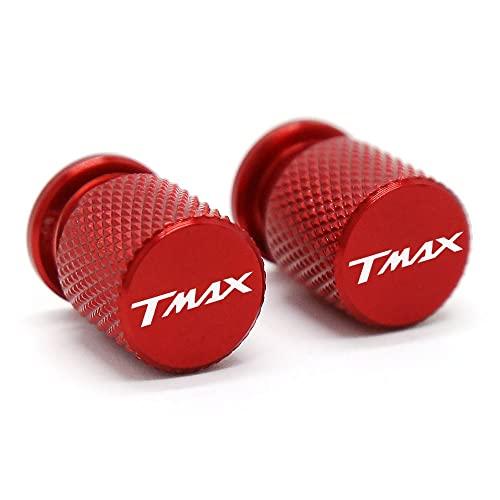 CNC para Yamaha TMAX 500 530 560 TMAX530 TMAX560 T- Max Válvula de Neumático de Moto Air Port Tapon Tapón CNC Accesorios de Aluminio Color Rojo