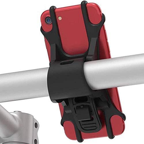 Accesorios para teléfono móvil Bicicletas de tracción en el teléfono móvil Soporte de bicicleta de montaña antivibración durante la marcha de navegación de silicona soporte Accesorios para auriculares