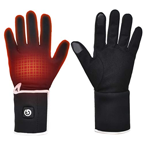 Heated Glove Liners for Men Women,Rechargeable Battery Motorcycle Ski Snow Warmer Mitten Glove Arthritis